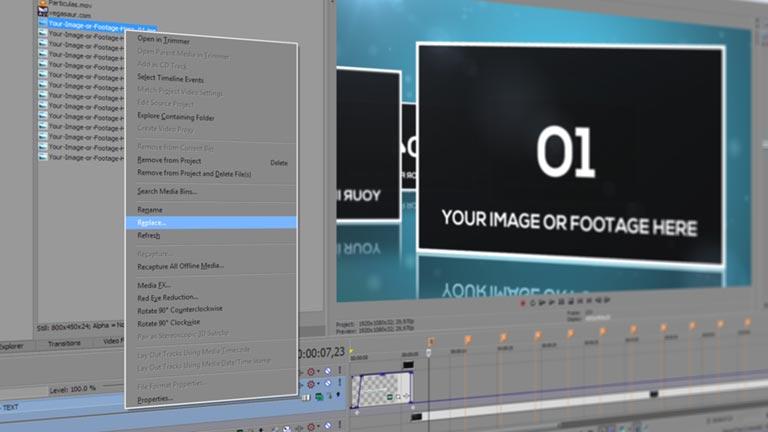 Slideshow Sony Vegas Template