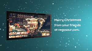 Merry Christmas Tv Sony Vegas Template
