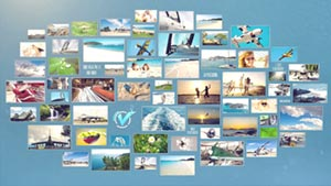 Photo Wall template fot Sony Vegas Pro